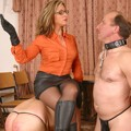 Madame Loreen teaches slaves to obedience