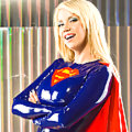Bianca Beauchamp as latex Supergirl