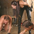 Madame Sarka is drilling slaves in palace prison